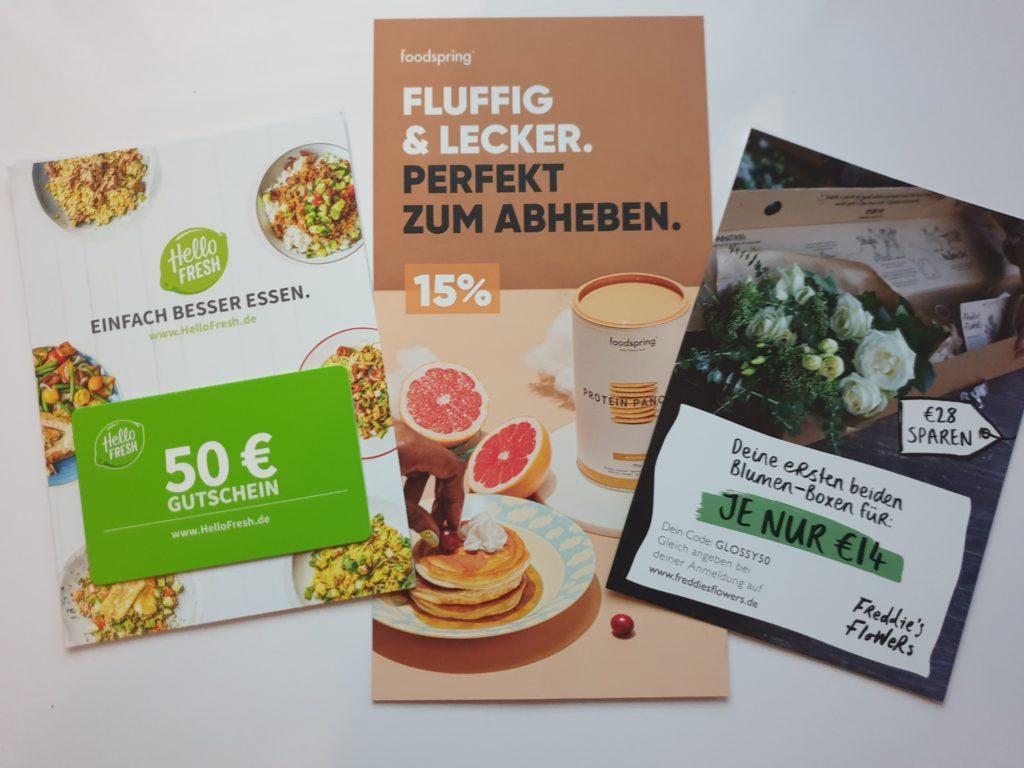 Gutscheine Hellofresh, foodspring, Freddies flowers