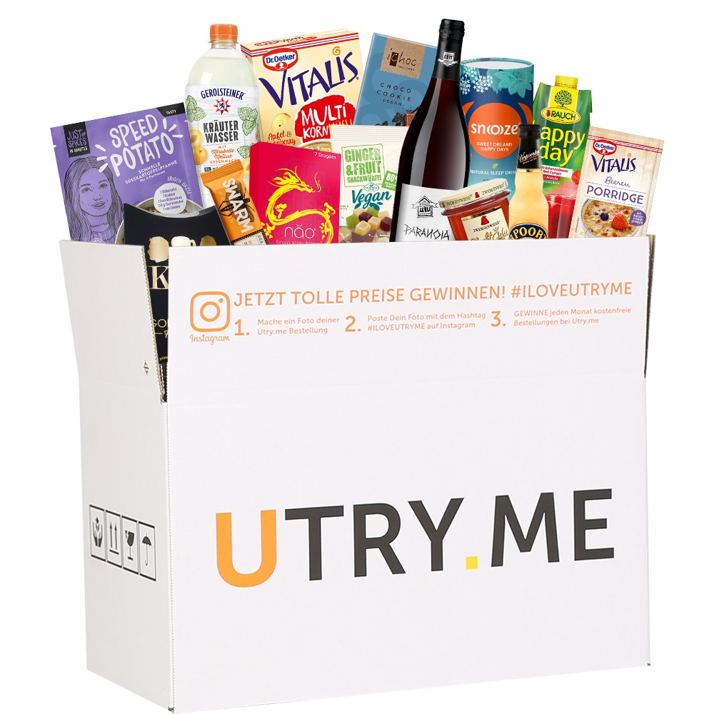 utry.me Box mit Produkten