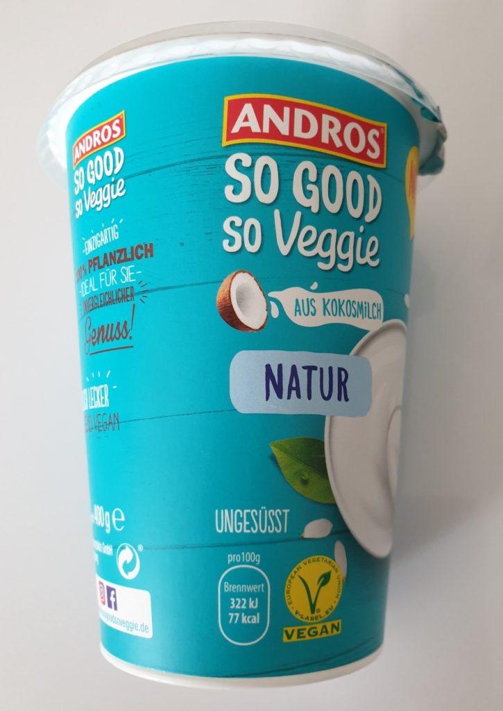 Andros So Good So Veggie Joghurt auf Kokosmilchbasis