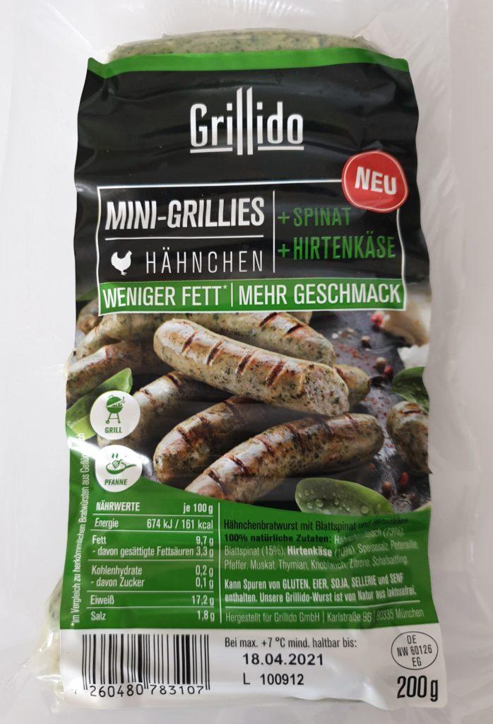 Grillido Mini Grillies Spinatico - 20 g - UVP 3,49 €