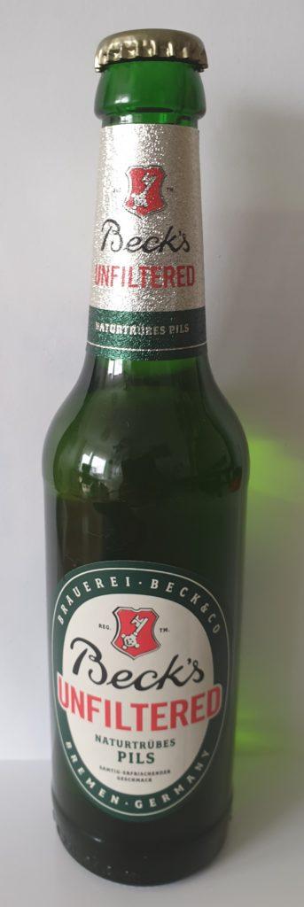 Becks unfiltered - 0,33 l - UVP 4,99 € / 6-Pack