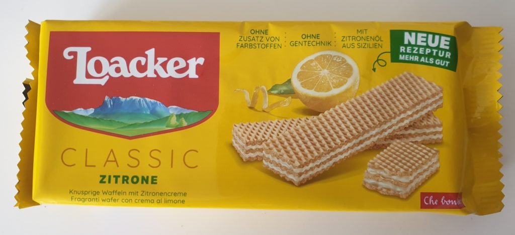 Loacker Classic Waffel Zitrone -125 g - UVP 1,79 €