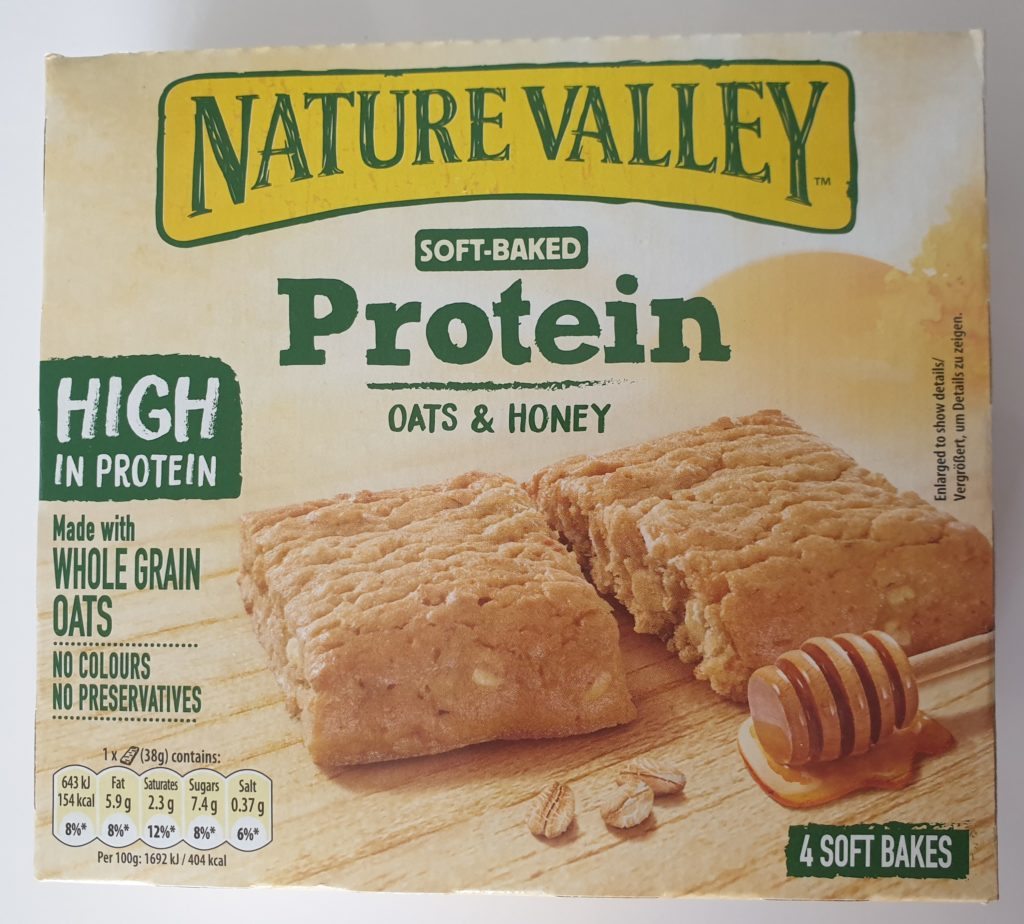 Nature Valley Soft-Baked Protein Oats & Honey - 4 x 38 g - UVP 2,99 €