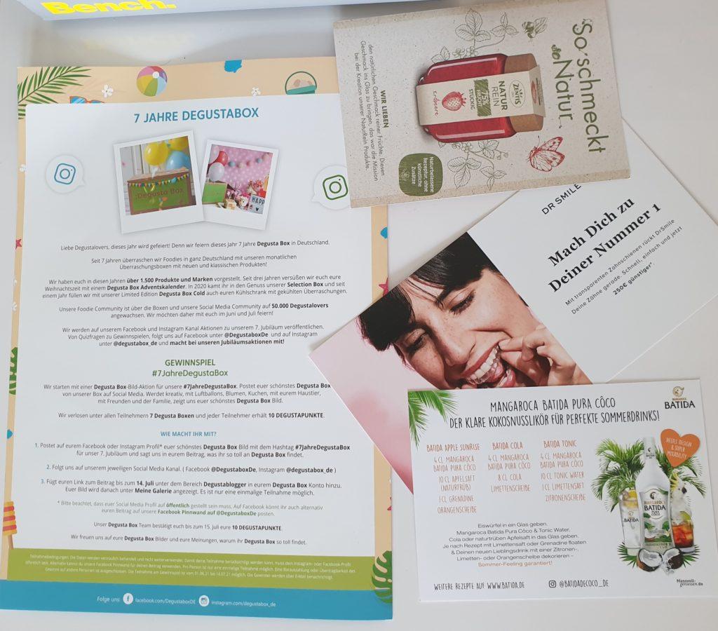 Gutscheine Rabatte Degustabox Juni 2021
