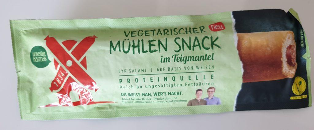 Rügenwalder Mühle Vegetarischer Mühlen Snack Typ Salami im Teigmantel - 50 g - UVP 0,99 €