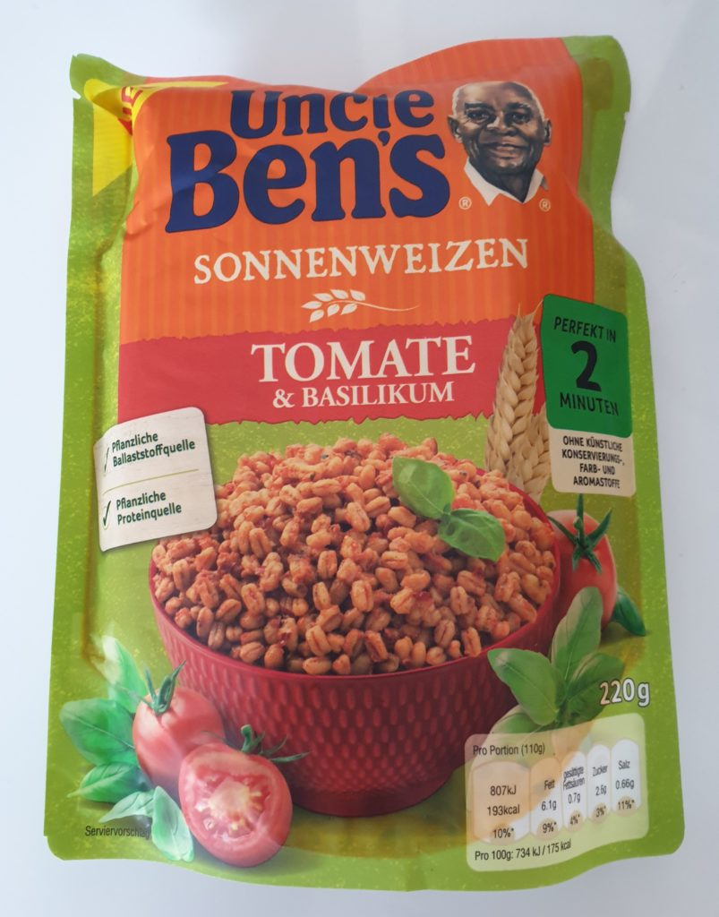 Uncle Bens Sonnenweizen Tomate & Basilikum - 220 g - UVP 1,99 €