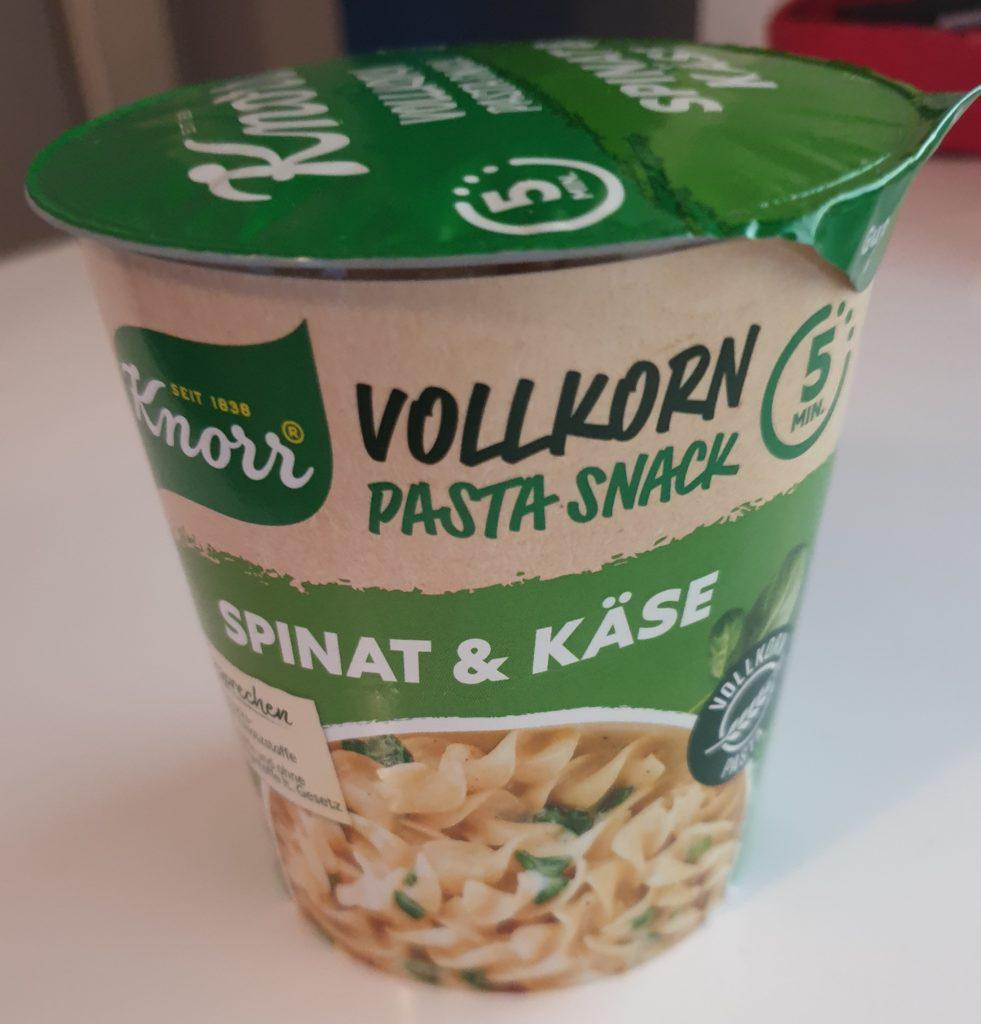 Knorr Vollkorn Pasta Snack - Spinat und Käse - 60 g - UVP 1,19 €